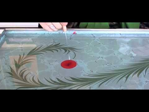Marbling - Ebru Sanati Sarmasik Karanfil - Abdulkerim Caliskan- Painting on Water - YouTube