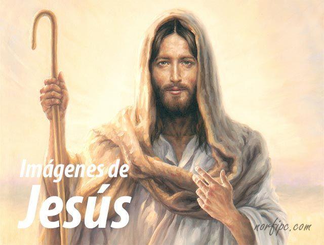 Jesús predicando. Imagen de Jesús con su atavío de pastor que parece que nos invita a seguir sus enseñanzas. #ImagenesJesus