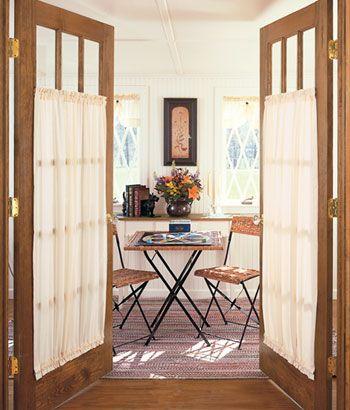 Striped Semi Sheer Door Panel Curtains Amp Shutters