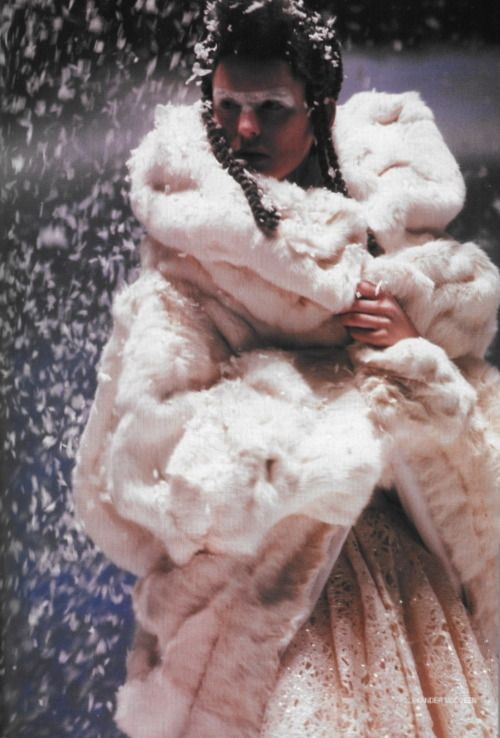 mcqueen's white snow coat like no other!