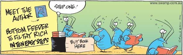 Bob the Crayfish knows how to make a buck! #bob #crayfish #funny #swamp http://www.swamp.com.au/search.php?s=9144c