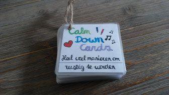 Calm down cards nederlands. 54 manieren om rustig te worden voor kinderen.