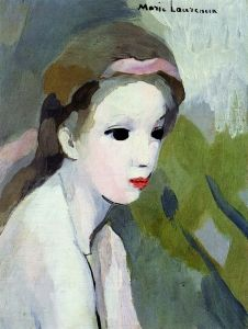 Girl with Pink Ribbon - Marie Laurencin - The Athenaeum