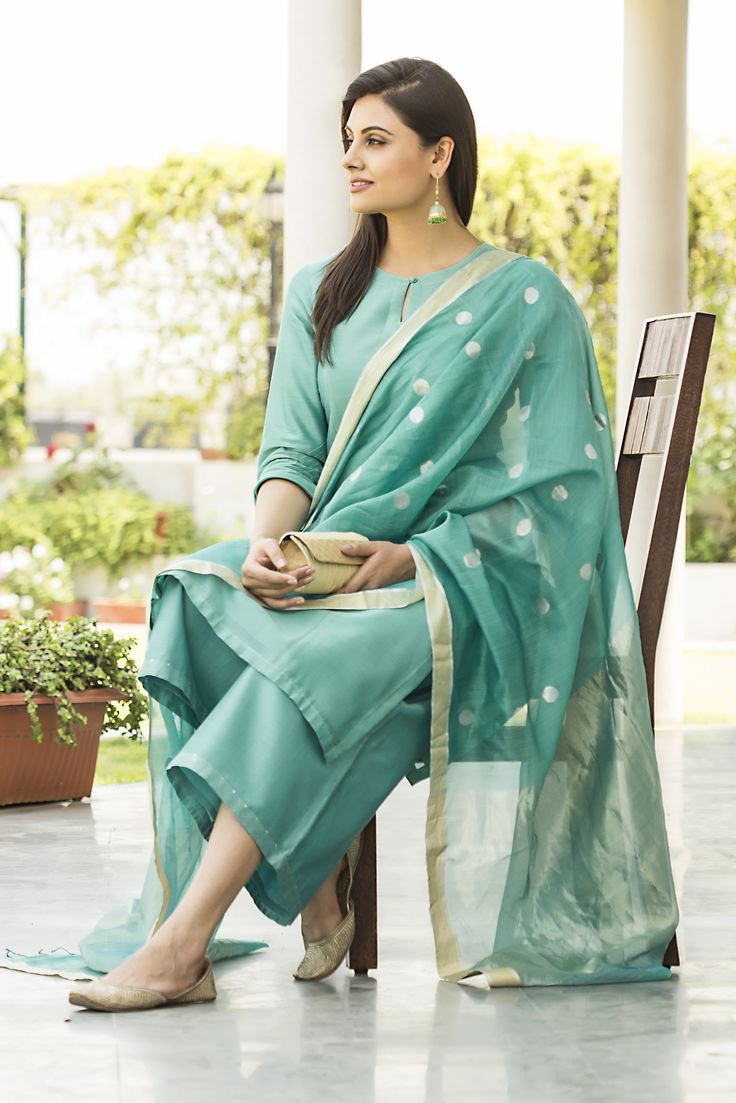 Azure blues - the new range of summer formals, available at #fabindia