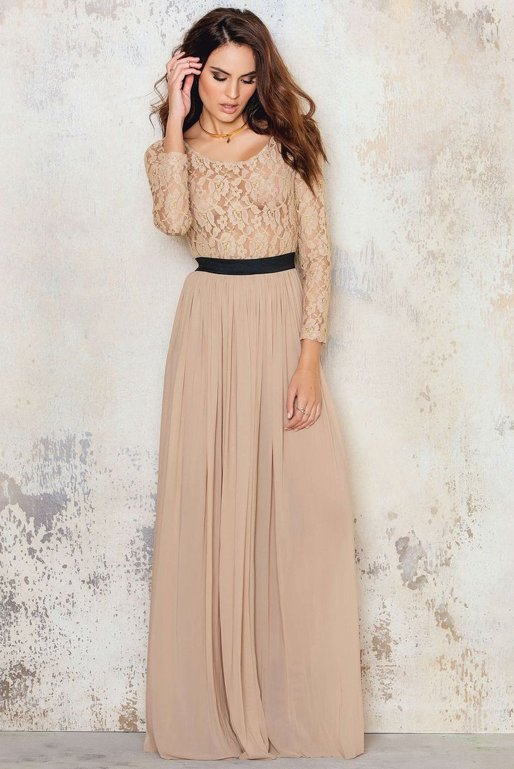 Extra long long sleeve maxi dress
