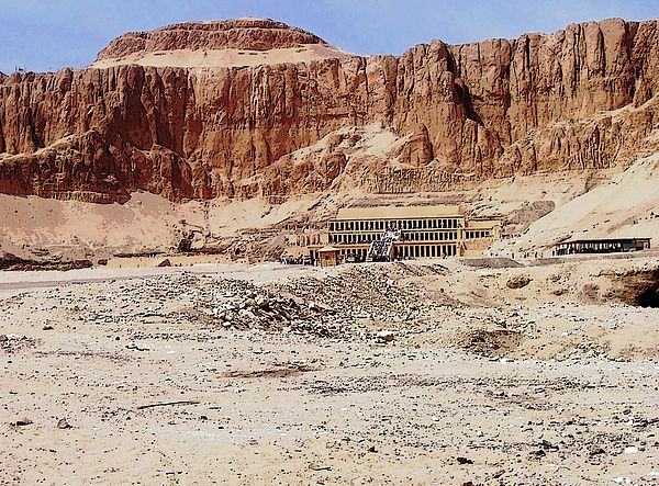 Temple Of Hatshepsut - Luxor Egypt #art #photography #hatshepsut #desert #temple #artforsale #egypt #luxor