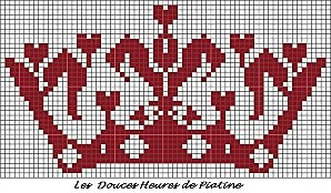 grille couronne rouge