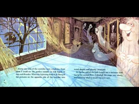 Disney Haunted Mansion read along book on you tube. All audio and book pages!