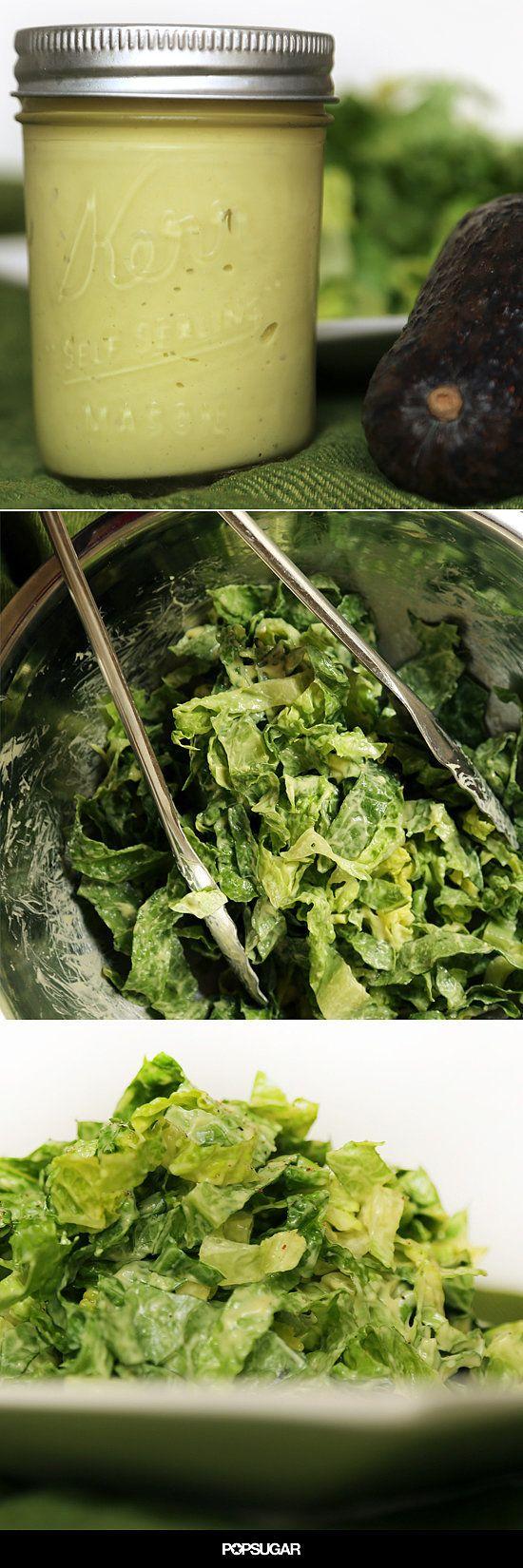 This Avocado Dressing Transforms Humdrum Salad Greens Into Something Spectacular