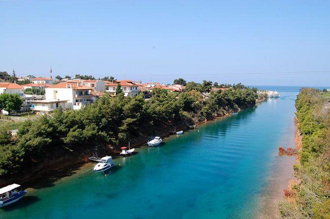 Potidea Canal, Chalkidiki, Northern Greece.