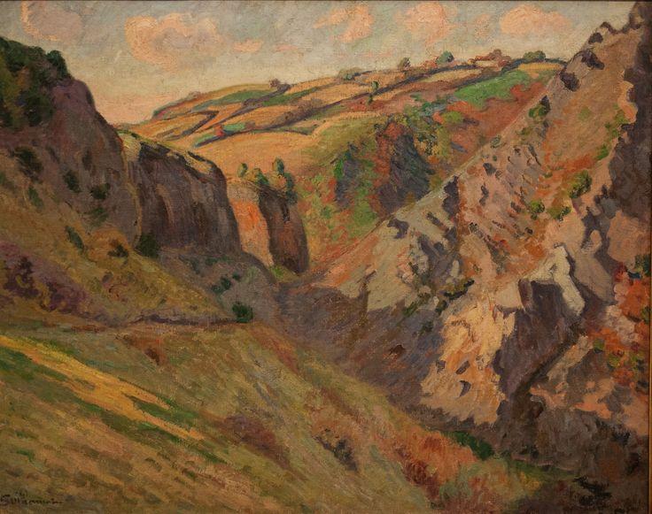 Armand Guillaumin - Les grottes de Pranal près de Pontgibaud