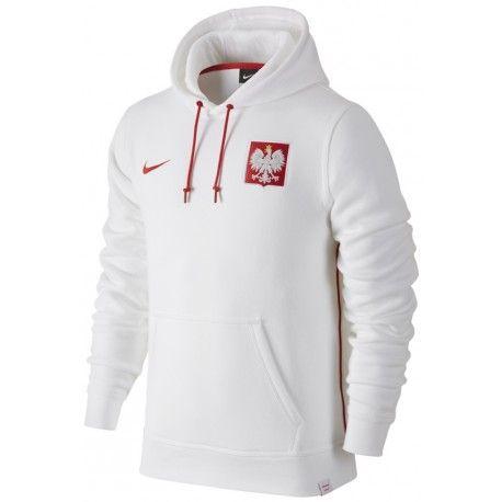 Sweat a Capuche Pologne 2016/2017 EURO 2016 Officiel.  Flocages Personnalisés Disponibles.