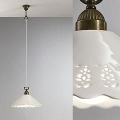 Brass & Ceramic Traditional Pendant Light | Assorted Sizes – Lighting Collective