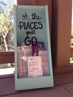 Ticket Stub Shadow Box... thinking square shape and maybe oh the places we've been instead...