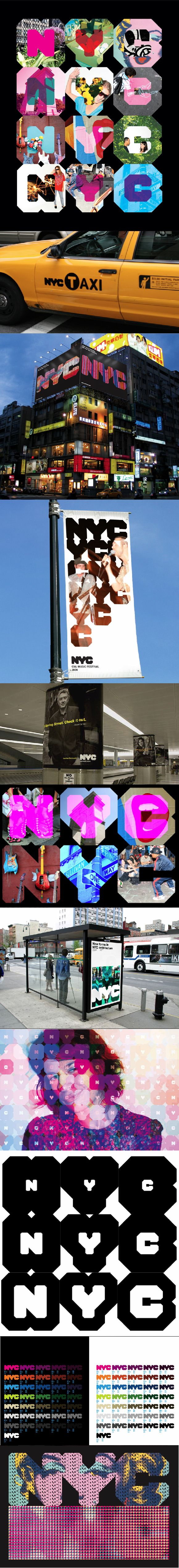 Branding for the New York City, USA, by Wolff Olins. Бренд Нью-Йорка, США, агентство Wolff Olins. #city_brand 2007