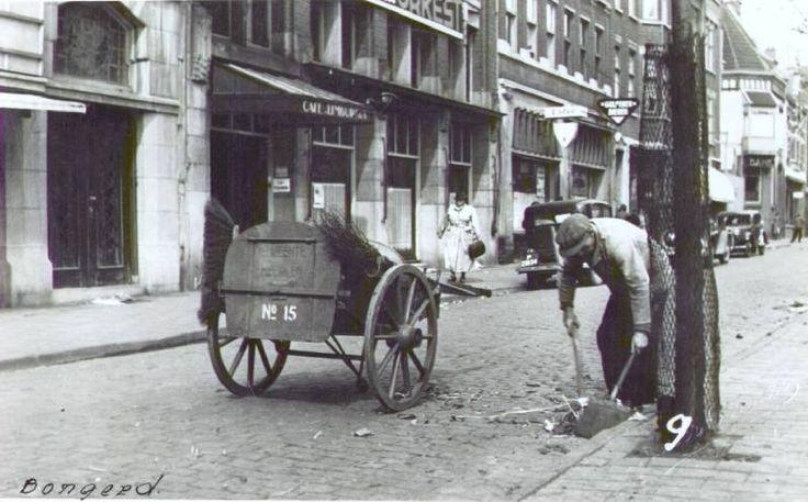 Straatveger op de Bongerd