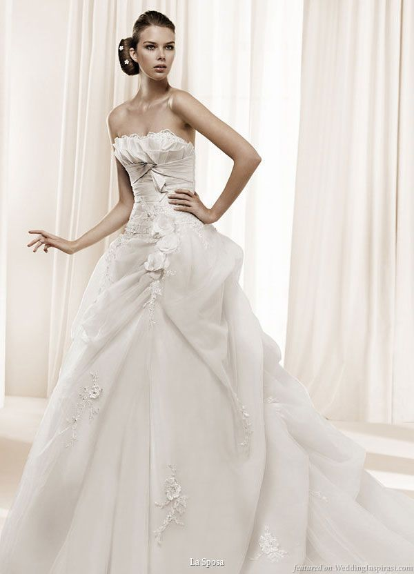 Fresh One of many LA SPOSA bridal gowns available at our intimate Seattle boutique Contact Call