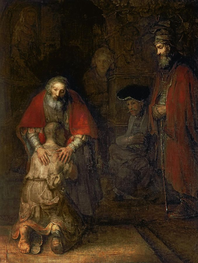 Return Painting - Return Of The Prodigal Son by Rembrandt Harmenszoon van Rijn