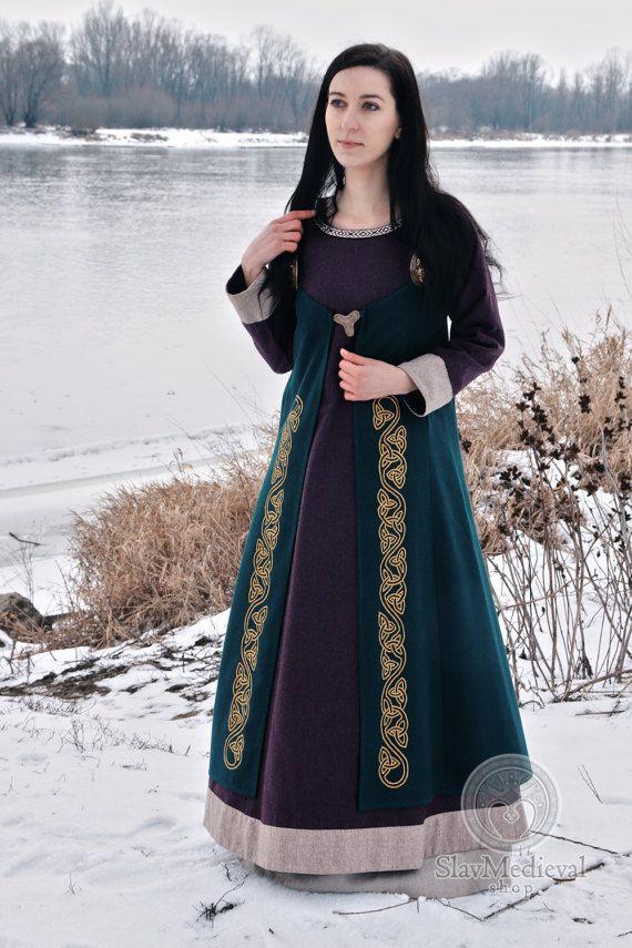 Scandinavian Apron Dress, Early Medieval , Viking Dress, for Viking Reenactors, Viking Costume