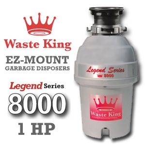 Waste King Garbage Disposal - 8000 1 HP Legend Series Garbage Disposer