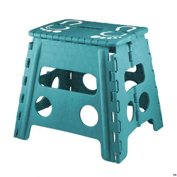 Teal folding step stool for kitchen pantries closets for Bathroom step stool for toddlers
