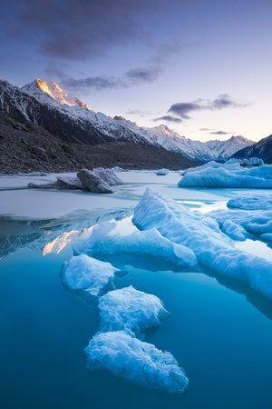 Winter at Tasman Lake by Mark Watson
