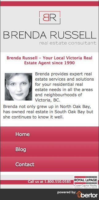 Custom Real Estate mobile website for realtor Brenda Russell