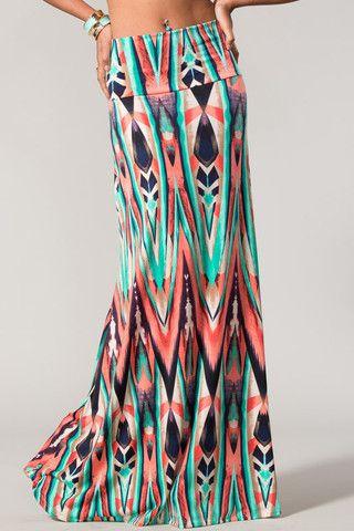 Painted Desert Maxi Skirt