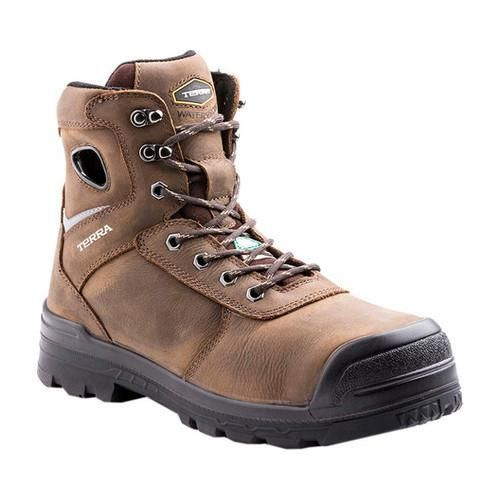 Men's Terra Marshal 6in Composite Toe Safety Work Boot Full Grain Waterproof Leather/Nylon