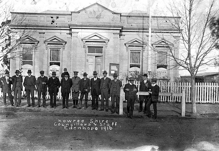 KOWREE SHIRE, COUNCILLORS AND STAFF,  Edenhope, Victoria, 1916 - Museum Victoria