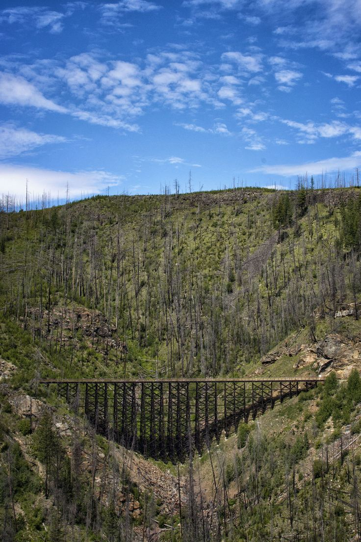 Cycling the trestles in Myra Canyon, a section of the Kettle Valley Railway just outside of #Kelowna #BC
