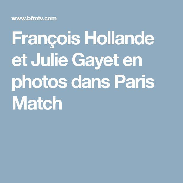 François Hollande et Julie Gayet en photos dansParis Match