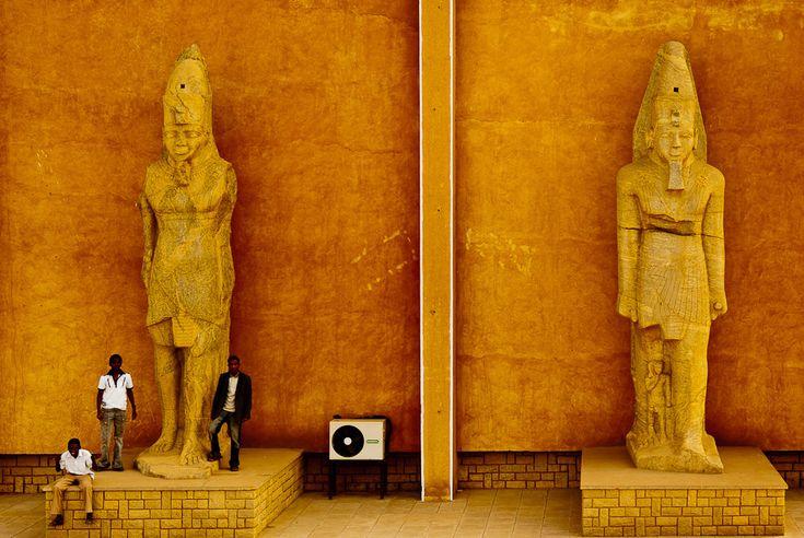 Colossi from Tabo. National Museum. Khartoum, Sudan