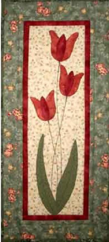 Excellent mini quilt for Spring. Tulips Quilt Pattern CJC-3798 by Castilleja Cotton - Diane McGregor. Check out our wall hanging patterns. www.pinterest.com... Subscribe to our mailing list for updates on new patterns and sales! visitor.constantc...