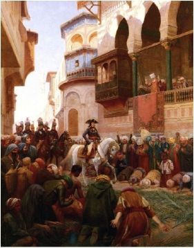 Napoleon marches into Cairo and forces the Mameluks to surrender to him, gaining control of Cairo. While in control, Napoleon appointed five Egyptians to be his advisers.