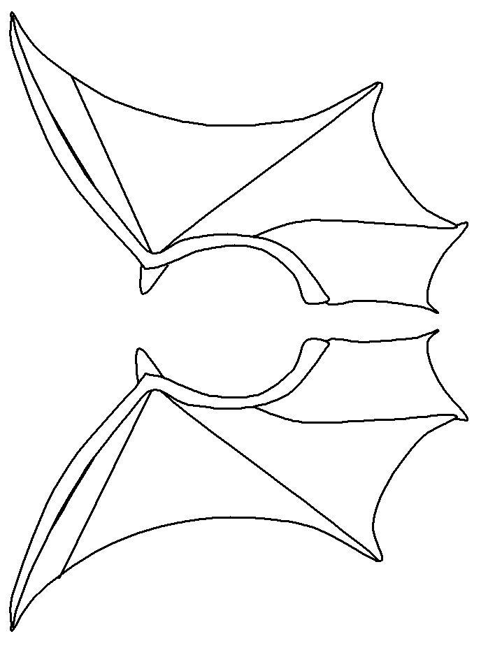 Vleermuis vleugels Zwart-Wit