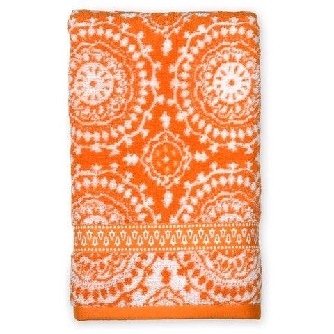 Mudhut™ Bandana Orange Hand  Towel
