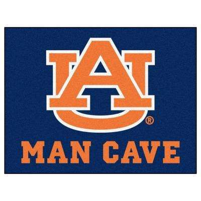 Auburn University Blue Man Cave 2 ft. 10 in. x 3 ft. 9 in. Accent Rug