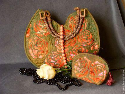 """Handmade patchwork bag #craft #patchwork #quilting / Лоскутная сумка """"Коралловые розы"""" — работа дня на Ярмарке Мастеров.  Узнать цену и купить: www.lekaefr.livemaster.ru"""
