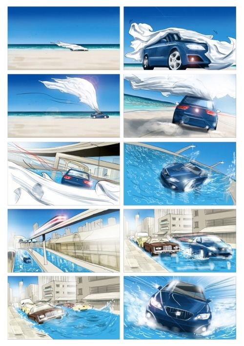 Seat EXEO, concept storyboard , 2008 year, HEADS advertising