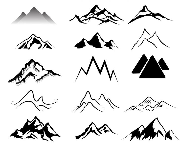 Mountain  black and white ideas about mountain clipart on simple 2