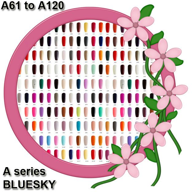 Bluesky™  A Range 61 - 120, Top and Base Coats UV/LED Soak Off Gel Nail Polish