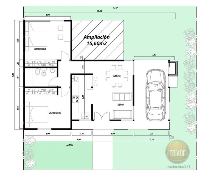 17 mejores ideas sobre planos de construcci n de vivienda for Diseno de casa de 7 x 17