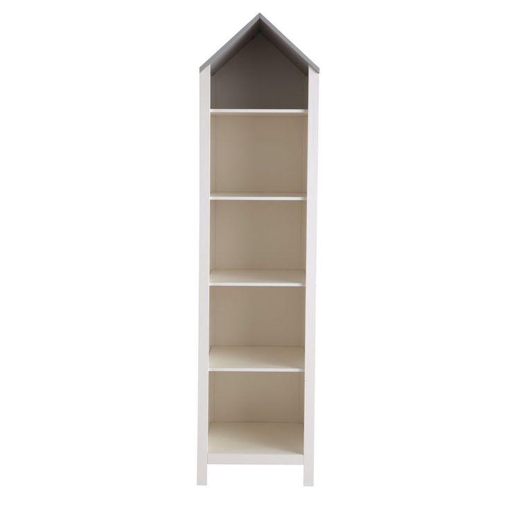 Libreria casa bianca in legno per bambini L 45 cm | Maisons du Monde