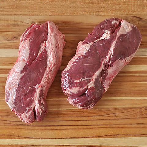 All-natural Angus beef hanger steak. The cattle are pasture-raised on a 100% vegetarian diet in humane conditions, without any antibiotics or hormones.