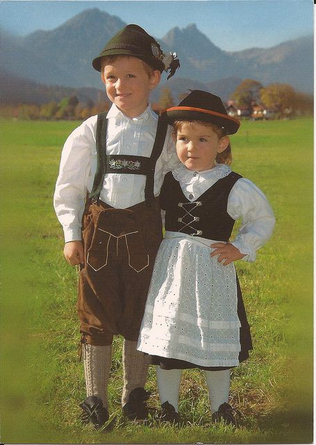 german dressing. my brother and dad have lederhosen and me and my sister have the traditional german dresses. i think me and my brother have a picture of us like that from when we were little.