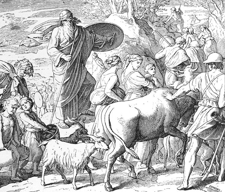 Bilder der Bibel – Flucht vor den Matathias Julius Schnorr von Carolsfeld   – Bilblische Bilder und Zeichnungen