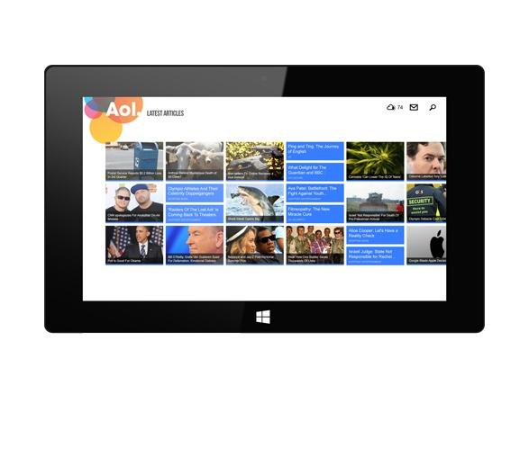 Aol Today Windows 8 by Levi Freeman, via Behance