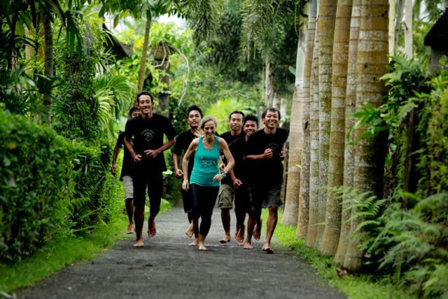 Nothing beats training in the tropics for me...lush surrounds at Sharing Bali.  www.sharingbali.com