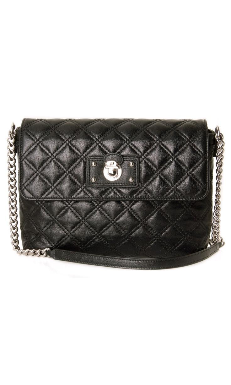 Marc Jacobs Large Single Quilted Leather Black Shoulder #Bag